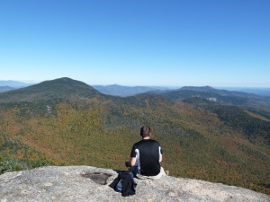 Fall foliage from the top of Mount Whiteface