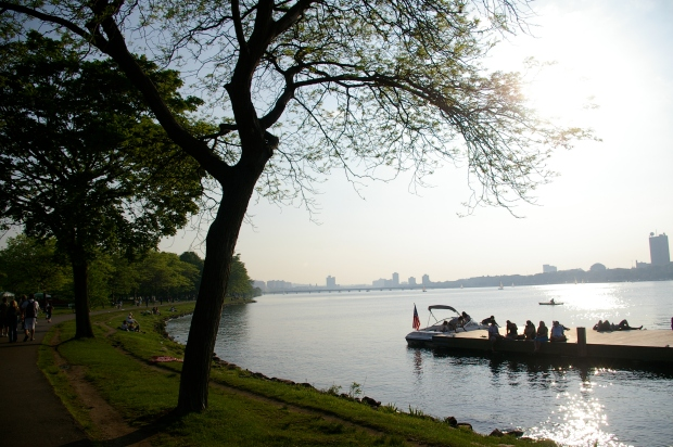 The jogging path along the Charles River.